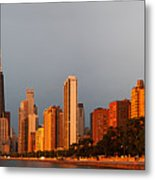 Sunrise Over Chicago Metal Print