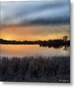 Sunrise On A Frosty Marsh Metal Print