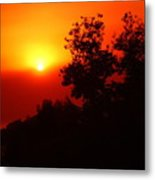 Sunset After The Fire Carlsbad Ca Metal Print