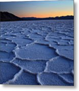 Sunset At Badwater In Death Valley Metal Print by Pierre Leclerc Photography