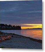 Sunset At Birch Bay State Park Metal Print