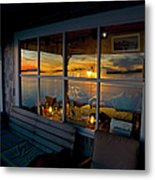 Sunset At Fletchers Camp Metal Print by Charles Harden