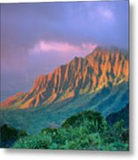 Sunset At Kalalau Lookout Metal Print
