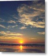 Sunset At Moonlight Beach Metal Print