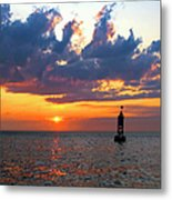 Sunset At The Bell Buoy Metal Print