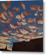 Sunset Clouds Over Santa Fe Metal Print by Erin Fickert-Rowland