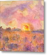 Sunset From The Road Metal Print