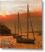Sunset Harbor Metal Print