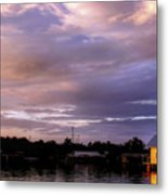 Sunset Hut Metal Print
