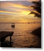Sunset In Huahine Metal Print