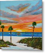 Sunset In Paradise Metal Print by Lloyd Dobson