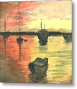 Sunset Lagoon Metal Print