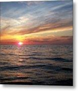 Sunset On Lake Erie Metal Print