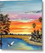 Sunset On The Glades Metal Print