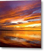 Sunset On The Harbor Metal Print
