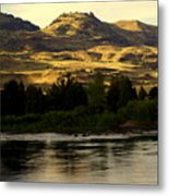 Sunset On The Yellowstone Metal Print
