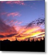 Sunset On Vancouver Island Metal Print