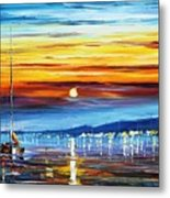 Sunset Over California Metal Print