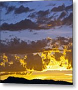 Sunset Over Horsetooth Rock Metal Print by Harry Strharsky