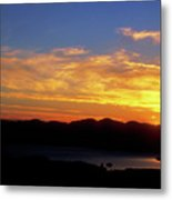Sunset Over Lake Champlain From Mount Philo Metal Print