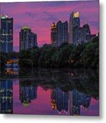 Sunset Over Midtown Metal Print by Doug Sturgess