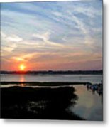Sunset Over Murrells Inlet II Metal Print