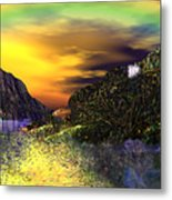 Sunset Over Paradise Metal Print