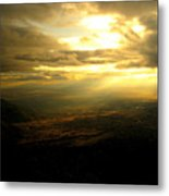 Sunset Over Sandia Mountain Metal Print