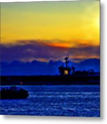 Sunset Over The Carl Vinson Metal Print