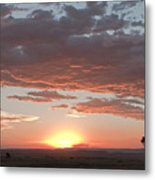 Sunset Over The Mara Metal Print
