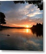 Sunset Panther Lake Metal Print