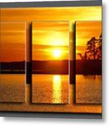 Sunset Poster Metal Print