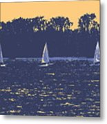 Sunset Race Metal Print