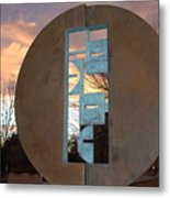 Sunset Thru Art Metal Print
