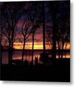 Sunset Thru The Trees Metal Print