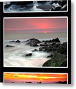 Sunset Triptych Metal Print