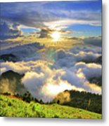 Sunset With Clouds Metal Print