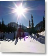 Sunstar Throws Long Shadows Metal Print