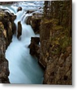 Sunwapta Falls In Jasper National Park Metal Print