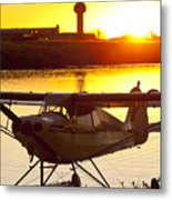 Super Cub At The End Of The Day Metal Print