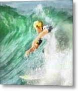 Surfer 46 Metal Print