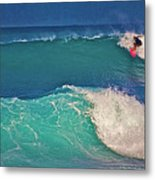 Surfer At Aneaho'omalu Bay Metal Print