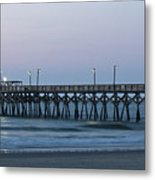 Surfside Beach Pier At Dawn Metal Print