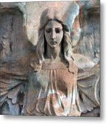 Surreal Fantasy Dreamy Angel Art Wings Metal Print by Kathy Fornal