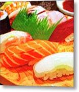 Sushi Plate 1 Metal Print