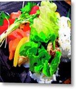 Sushi Plate 5 Metal Print