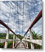 Suspended Bridge Metal Print