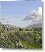 Swallow Bay Cliffs Metal Print