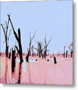 Swamp And Dead Trees Metal Print