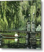 Swan Boats Metal Print by Lisa Reinhardt